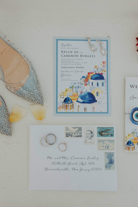 Cameron & Kellie Santorini White On Black Studio Wedding Photography (3)
