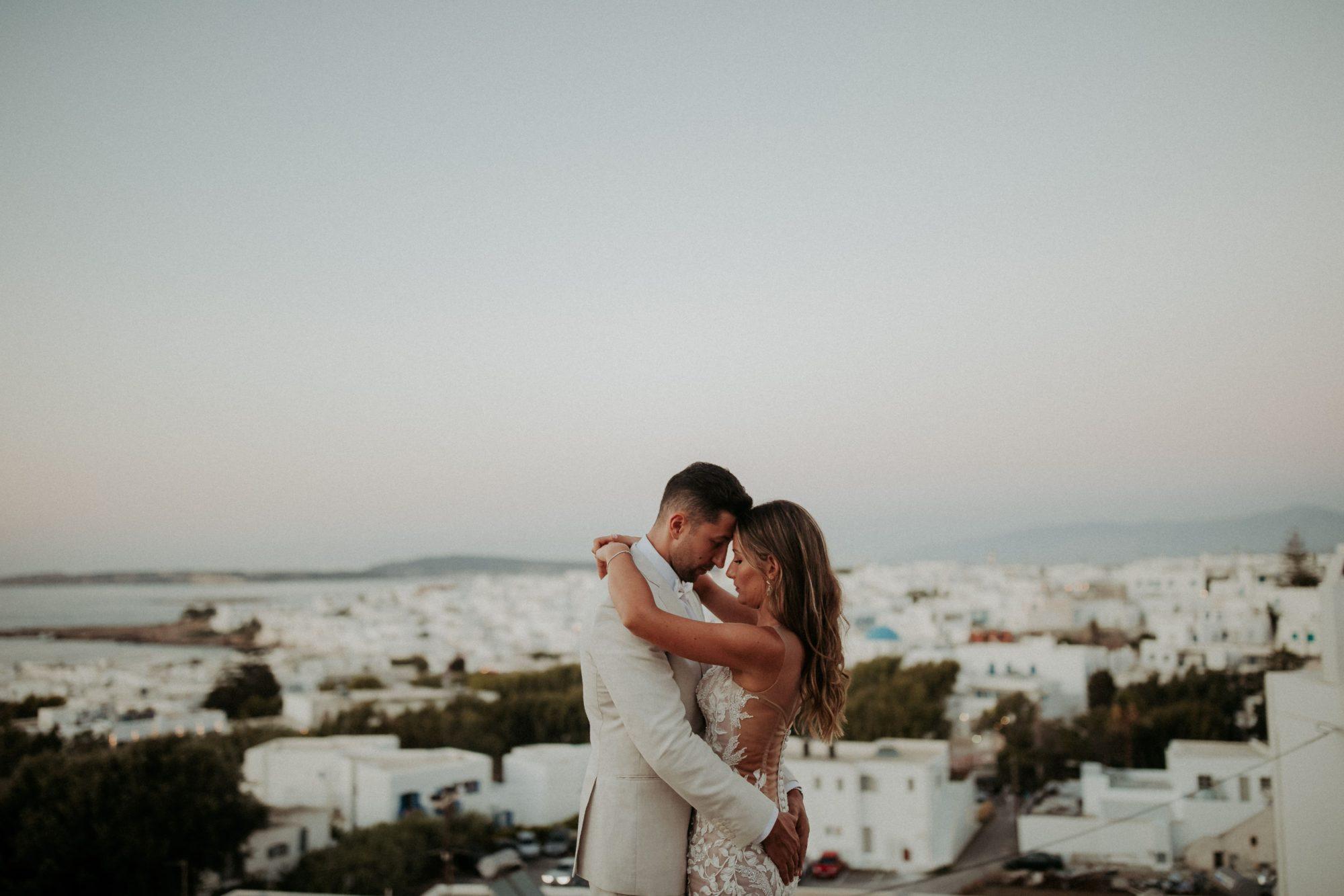 Wedding In Paros Tania & Frank White On Black Studio Wedding Photography (309)