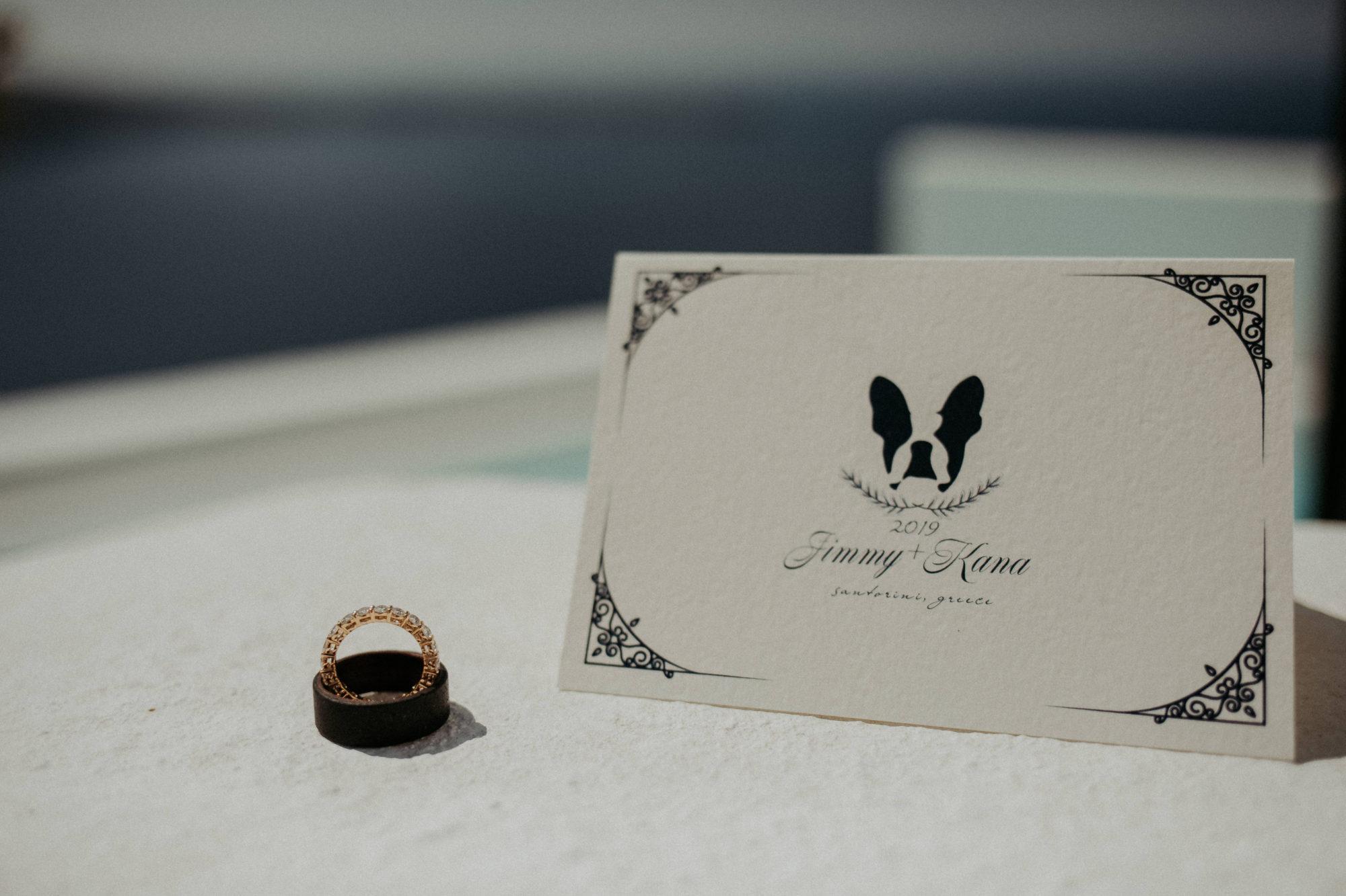 Wedding In Santorini Jimmy & Kana White On Black Studio (4)